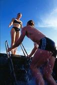 Par vid badstege