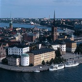 Vy över Riddarholmen, Stockholm
