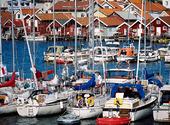 Fritidsbåtar i Hunnebostrand, Bohuslän