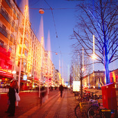 Vinterbelysning på Avenyn, Göteborg