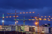 Bygge i centrala Stockholm