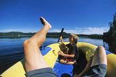 Semesterliv i gummibåt