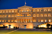 The Parliament in Athens, Greece