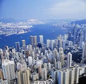 Vy över Hongkong, Kina