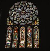 Kyrkfönster katedralen i Chartre