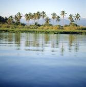 Lagunen vid  Bacalar, Mexico