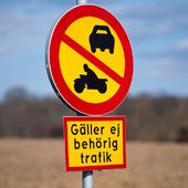 Trafikskylt, förbudsmärke