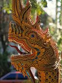 Tempeldrake i Chiang Mai, Thailand