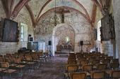 Interiör Kumlaby kyrka på Visingsö, Småland