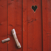 Dörr på utedass