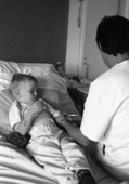 Pojke på sjukhus