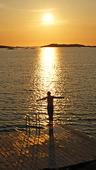Bad i solnedgång