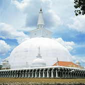 Stupa tempel i Anuradhapura, Sri Lanka