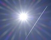 Flygstrimma i solsken