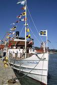 Skärgårdsbåt i Göteborgs hamn