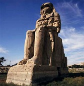 Memnonstatyerna vid Luxor, Egypten