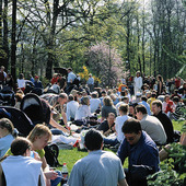 Studenter firar Valborg, Göteborg