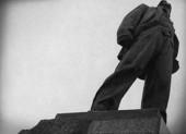 Staty av Vladimir Majakovskij i Moskva, Ryssland