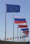 Nationsflaggor och EU-flaggan