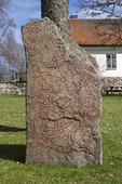 Runsten vid Tensta kyrka, Uppland.