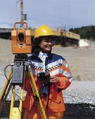 Mätning vid vägbygge