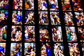 Färgglada glas detaljer, Duomo Milano