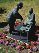 Skulptur Kungsbackagumman, Halland