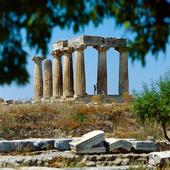 Apollon templet i Korinth, Grekland