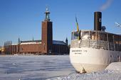 Stockholms Rådhus, vinter