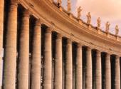 Kolonnaderna vid Petersplatsen i Rom, Italien