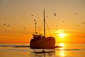 Fiskebåt i skymning, Bohuslän