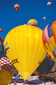 Luftballonger på startfält