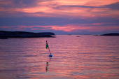 Fiskeboj i skymning, Bohuslän