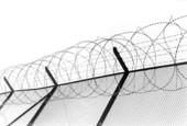 Stängsel runt fängelse