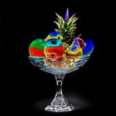 Idèbild  fruktskål  (solariserad)