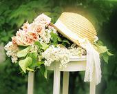 SUNHAT of garden flowers