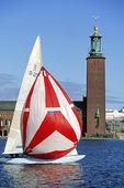 Segling vid Stockholms Stadshus