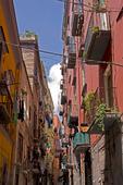 Gränd i Neapel, Italien