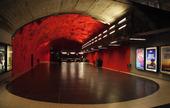 Tunnelbanestation i Solna, Stockholm