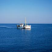 Fiskebåt på havet, Bohuslän