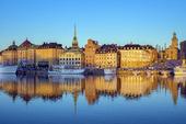 Gamla stan i Stockholm, tidigt på morgonen