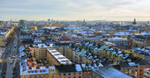 Vintervy över Stockholm
