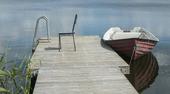 Bryggan och båten