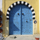 Blue door, Tunisia