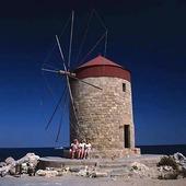 Väderkvarn på Rhodos, Grekland