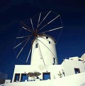 Väderkvarn på Santorini, Grekland