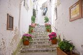 Gammal trappa i Amalfi Italien