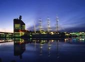 Göteborgs hamn i gryning