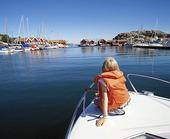 Flicka på båt, Bohuslän
