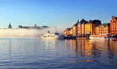 Stockholm city center in the morning